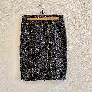 Jcrew Tweed Pencil Skirt w/ Asymetrical Slit Sz 4